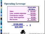 operating leverage1