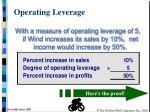 operating leverage2