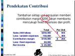 pendekatan contribusi
