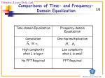 comparisons of time and frequency domain equalization