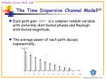 the time dispersive channel model1