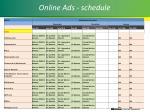 online ads schedule