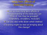 long term effects of exercise training