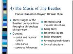 4 the music of the beatles