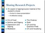 sharing research projects