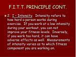 f i t t principle cont