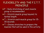 flexibility and the f i t t principle