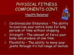 physical fitness components cont1