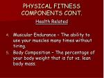 physical fitness components cont2