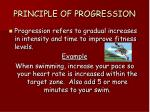 principle of progression