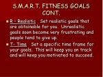 s m a r t fitness goals cont
