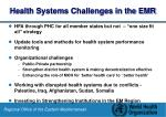 health systems challenges in the emr