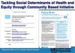 tackling social determinants of health and equity through community based initiative