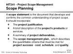 hit241 project scope management scope planning1