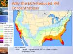 why the eca reduced pm concentrations