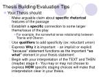 thesis building evaluation tips