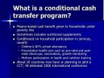 what is a conditional cash transfer program