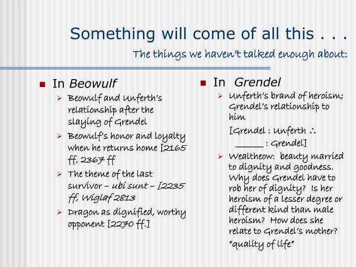 differences between grendel and beowulf