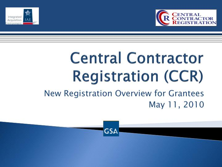 central contractor registration ccr n.