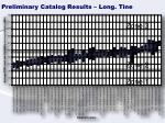 preliminary catalog results long tine