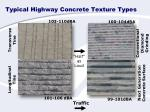 typical highway concrete texture types