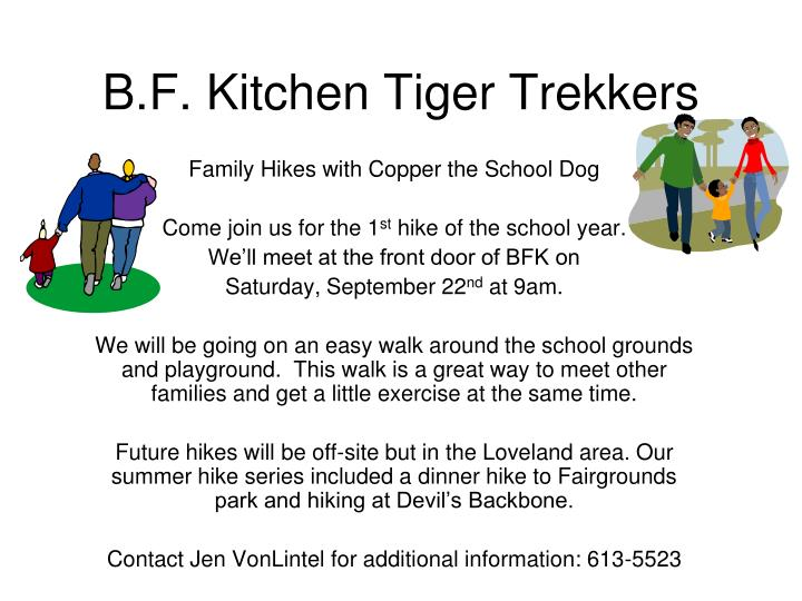 b f kitchen tiger trekkers n.