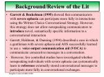 background review of the lit