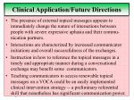 clinical application future directions