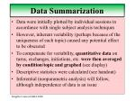data summarization