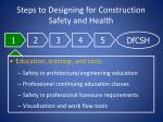steps to designing for construction safety and health1
