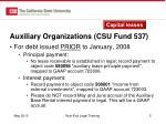 auxiliary organizations csu fund 537