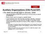 auxiliary organizations csu fund 5371