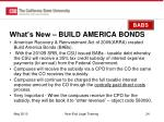what s new build america bonds