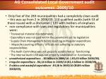 ag consolidated local government audit outcomes 2009 10