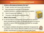approach to investigations cont1