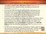 corruption as a global concern