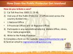 how does the public protector get involved