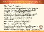 role of the public protector in promoting integrity as the foundation of good governance