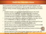 six 6 key mandate areas