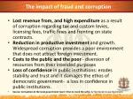 the impact of fraud and corruption