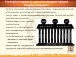 the public protector is part of the broader national integrity framework