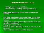 cardinal principles contd