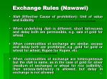 exchange rules nawawi