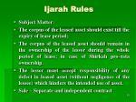 ijarah rules