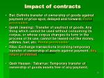 impact of contracts