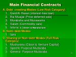 main financial contracts