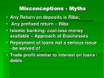 misconceptions myths