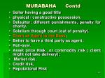 murabaha contd