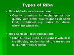 types of riba