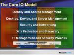 the core io model
